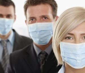 Главный источник распространение гриппа – дыхание больного